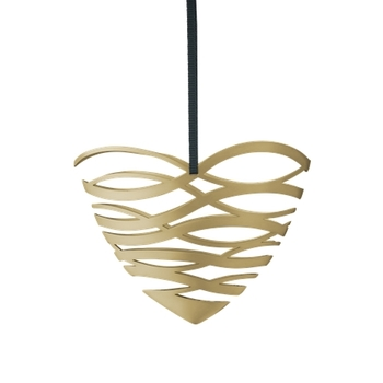 Елочная игрушка Stelton Tangle  heart  ornament small