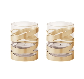 Набор подсвечников 2 предмета  Stelton Tangle tealightholder