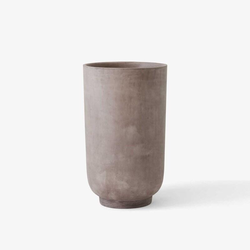 Кашпо &Tradition Collect planter SC45 silver grey. Изображение 1