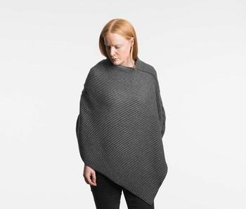 Пончо Design House Stockholm Pleece short Dark grey