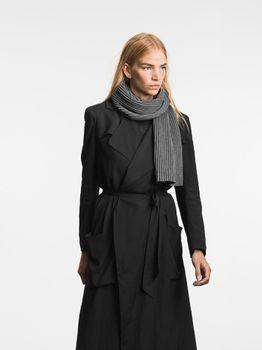 Шарф Design House Stockholm Pleece Short Scarf dark grey