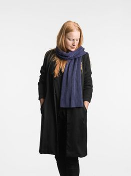 Шарф Design House Stockholm Pleece  Short Scarf midnight blue