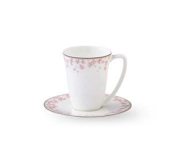 Чашка с блюдцем  Wik & Walsoe Slape Rosa