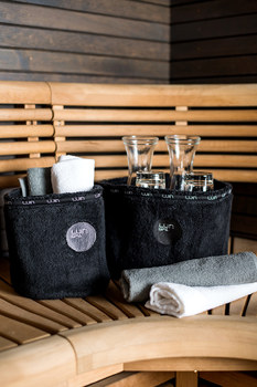 Корзина для ванных принадлежностей Luin spa Spa basket black small