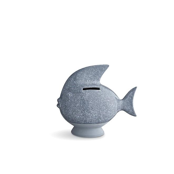 Копилка Kähler Fishy bank light blue. Изображение 1