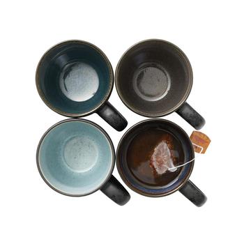 Сет из 4 чашек с ручкой Bitz  Mug black