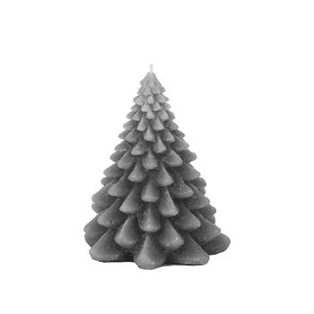 Cвеча Broste Copenhagen  Christmas tree steel grey